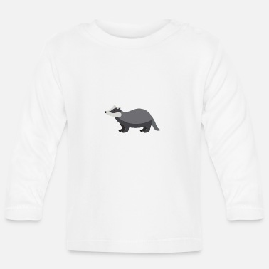 Badge Badger - Langærmet babyshirt