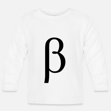 Beta beta Greek letter - Baby Longsleeve Shirt