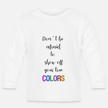 Writing True colors text writing - T-shirt