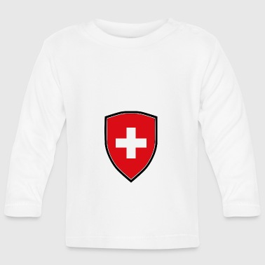 SWITZERLAND FLAG SHIELD - T-shirt manches longues Bébé