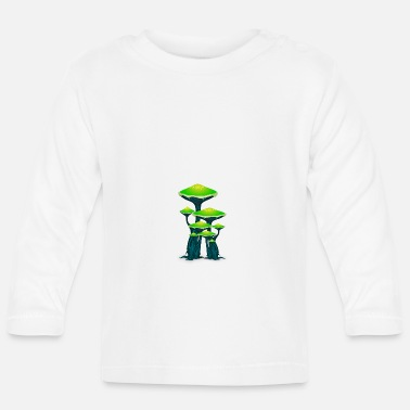 Magic Magic Mushrooms Mushrooms Ticker Psytrance Goa Techno - Baby Longsleeve Shirt