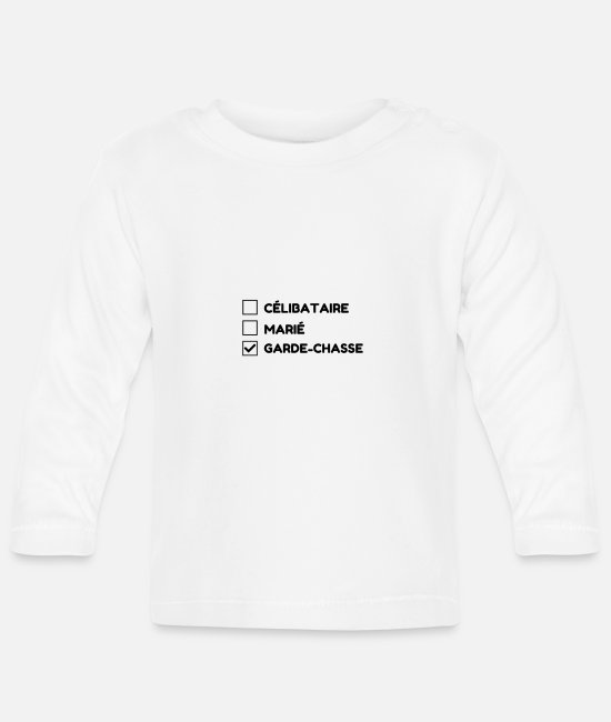Gun Baby Clothes - Game Keeper Hunting Wildhüter Garde Chasse - Baby Longsleeve Shirt white