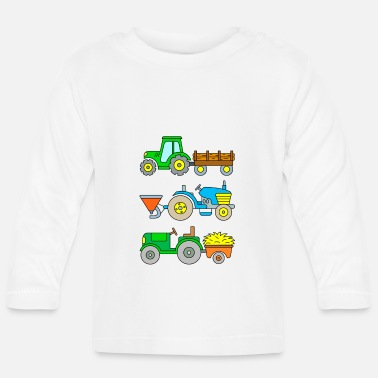 Drill Tractors: timber transport, seed drill, haulage - Baby Long Sleeve T-Shirt