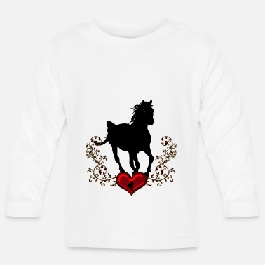 Corazon Stunning black horse - Baby Long Sleeve T-Shirt