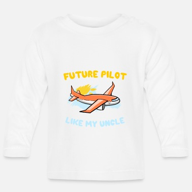 Uncle Future pilot like Uncle Airplane Comic Children - Baby Longsleeve Shirt