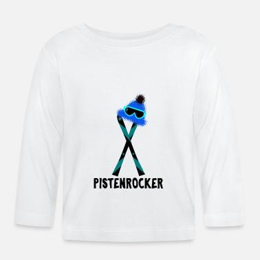 Lunettes De Ski Lunettes de ski sur fond de ski - T-shirt manches longues 7ab899852656