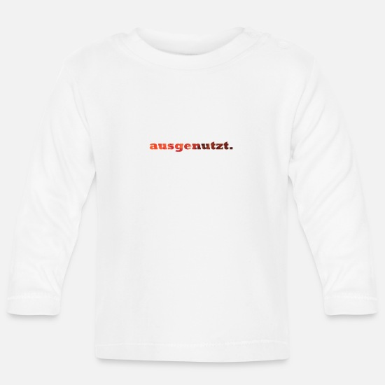 Stylish Baby Clothes - exploited. - Baby Longsleeve Shirt white