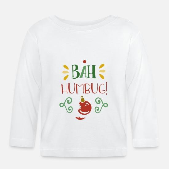 Anti Weihnachten Sprüche.Bah Humbug Anti Weihnachten Lustige Sprüche X Mas Baby Langarmshirt Weiß