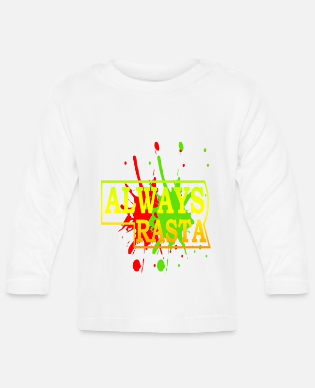 Rasta Baby Long-Sleeved Shirts - Rasta 12 - Baby Longsleeve Shirt white