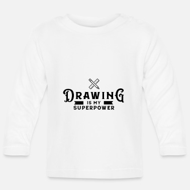 Draw Drawing Drawing Draftsman drawing drawing - Baby Longsleeve Shirt