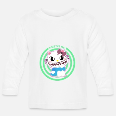 Stout Cute Cat Cute Evil Teeth Push Me - T-shirt