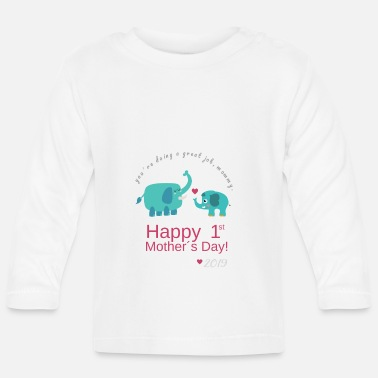 Day Happy first Mother´s Day - Elephant - Baby Langarmshirt
