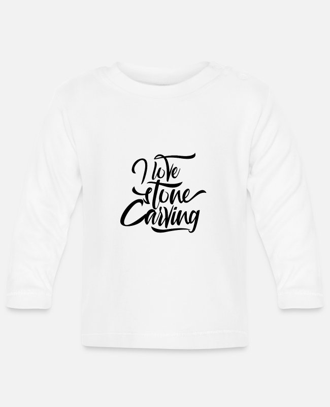 Occupation Baby Long-Sleeved Shirts - Stone carving stones stonecutter stone sculptor - Baby Longsleeve Shirt white