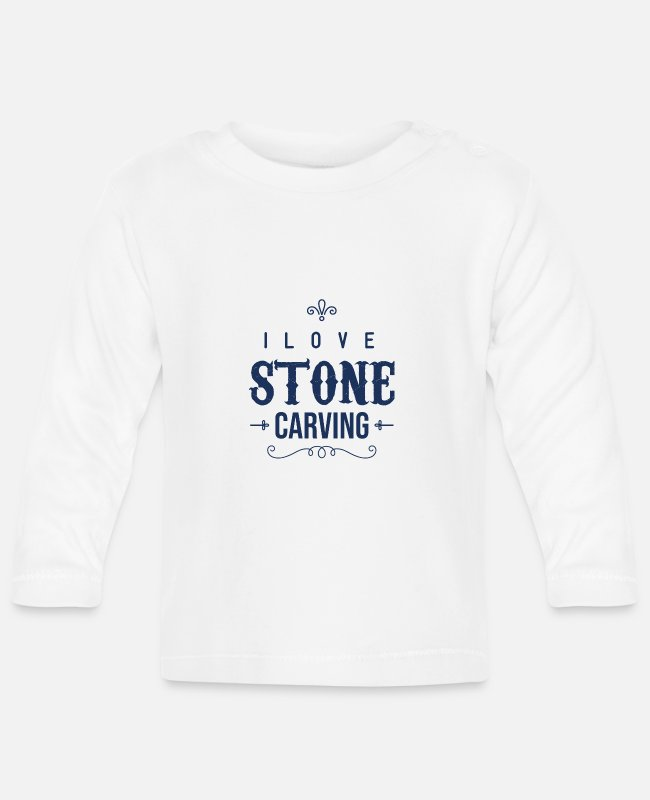 Occupation Baby Long-Sleeved Shirts - Profession Steinmetz sculptor Stein carve stones - Baby Longsleeve Shirt white