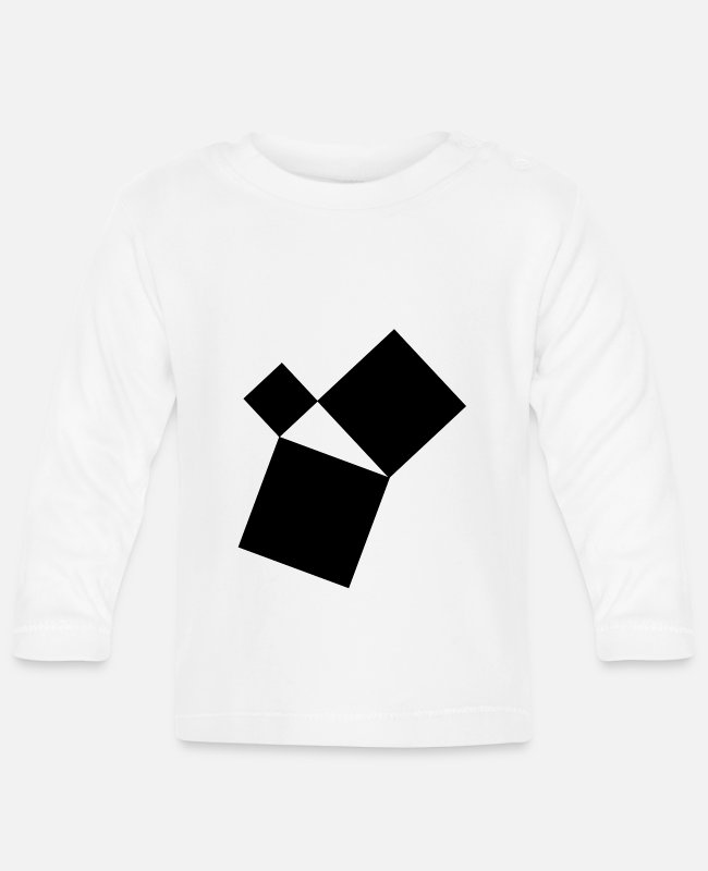Geometry Baby Long-Sleeved Shirts - Pythagoras triangle trigonometry - Baby Longsleeve Shirt white