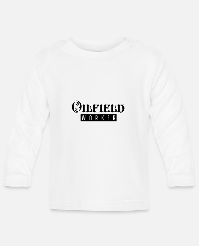 Oil Baby Long-Sleeved Shirts - Oilfield workers - Baby Longsleeve Shirt white