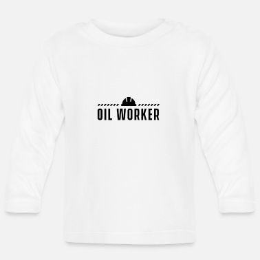 Oil Drilling Oil workers offshore drilling platform oil rig - Baby Longsleeve Shirt