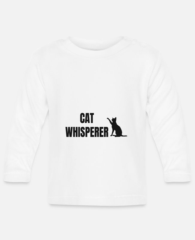 Cat Lady Baby Long-Sleeved Shirts - Cat Whisperer - Baby Longsleeve Shirt white
