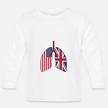 Migration UK Usa Lungs - Baby Longsleeve Shirt