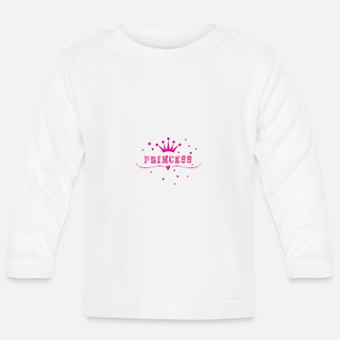 Hen Night Princess, Crowns, Hearts, Hen Nights, Bachelorette - Langarmet baby T-skjorte