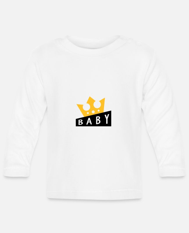 Pregnancy Baby Long-Sleeved Shirts - Baby Bébé Birth Geburt Bambino Naissance Birth - Baby Longsleeve Shirt white