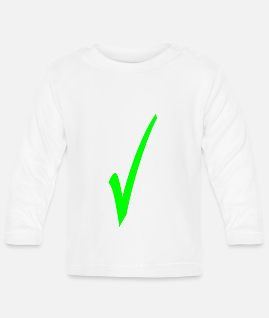 School Baby Long-Sleeved Shirts - Hooks in green - Baby Longsleeve Shirt white