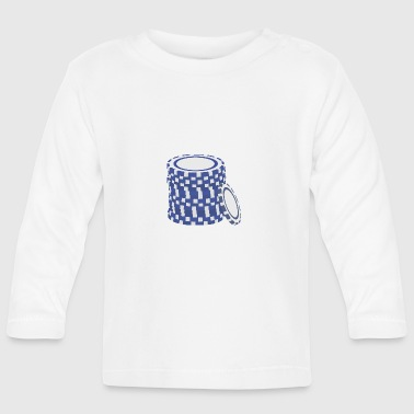 Blue poker chips - Baby Long Sleeve T-Shirt