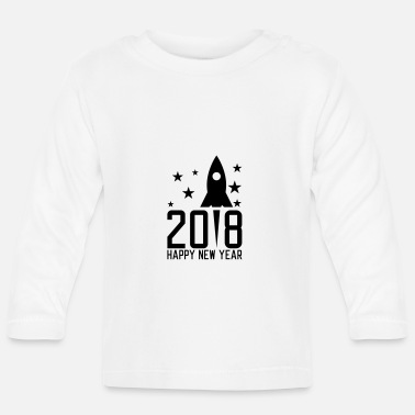 Silvester Happy New Year 2018 - Baby Langarmshirt