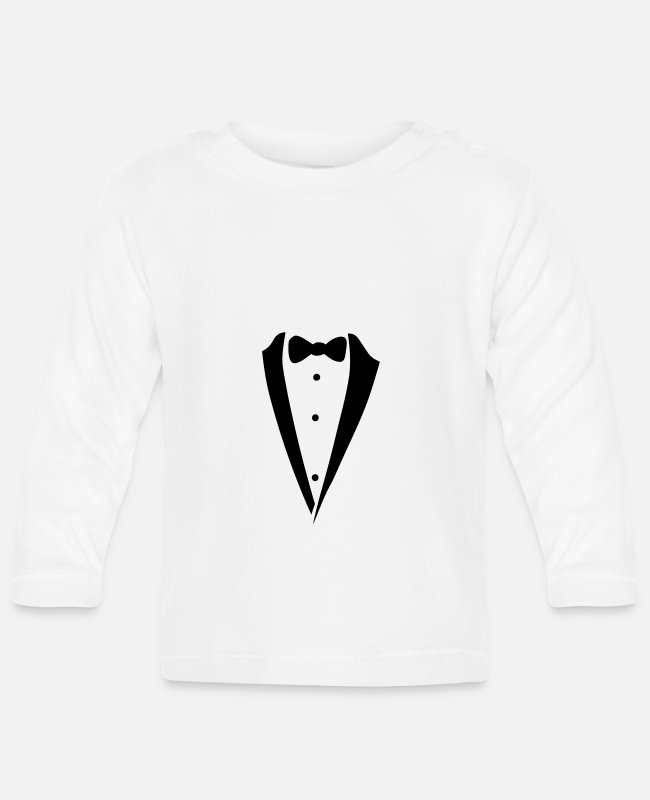 Tie Baby Long-Sleeved Shirts - bow tie costume - Baby Longsleeve Shirt white