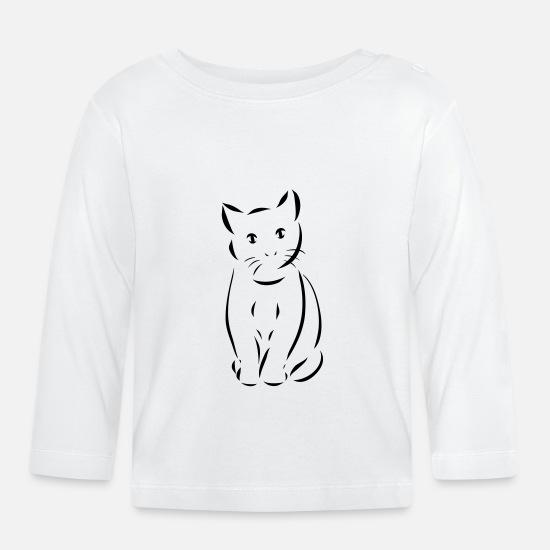 Katt, katter, katt Langarmet baby T skjorte | Spreadshirt