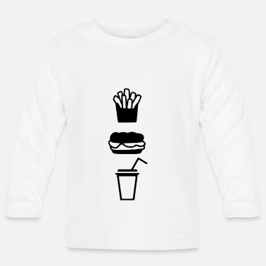 Fast Food Fast food - T-shirt manches longues Bébé