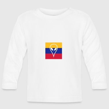 Ecuador country in South America Alien - Baby Long Sleeve T-Shirt