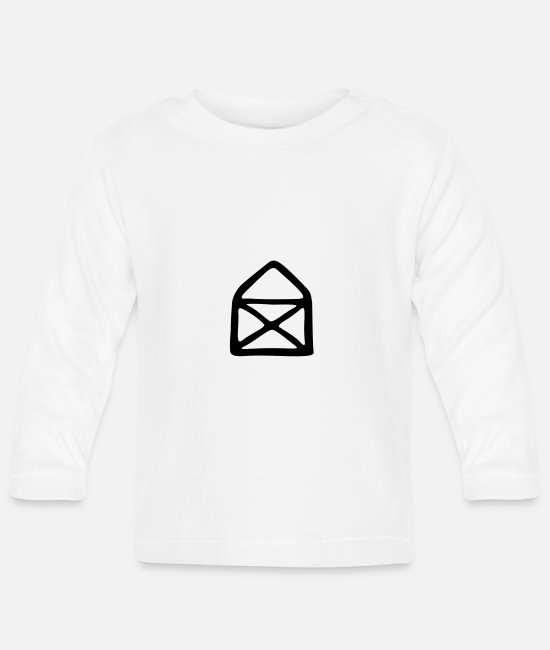 Drawing Baby Long-Sleeved Shirts - House of Nicholas - Baby Longsleeve Shirt white