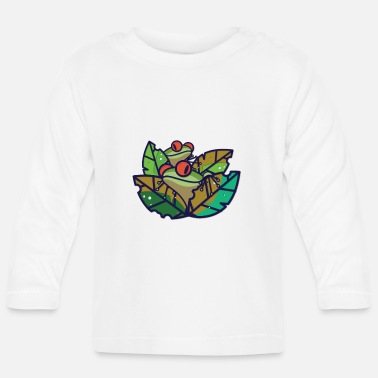Frog Frog - frogs in the pond - Baby Longsleeve Shirt