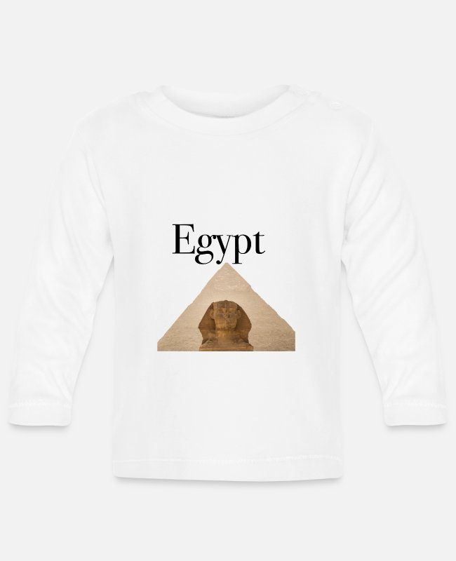 Art Baby Long-Sleeved Shirts - Pyramid pyramids Egypt - Baby Longsleeve Shirt white