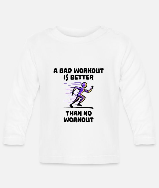 Training Baby shirts met lange mouwen - Motivatie gezegden hardlopen training marathonsport - Baby longsleeve wit