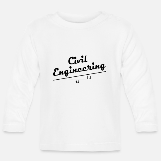 Slope Baby Clothes - Civil Engineer Slope - Baby Longsleeve Shirt white