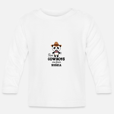 Light Real Cowboys are from Russia Gift - Baby Longsleeve Shirt