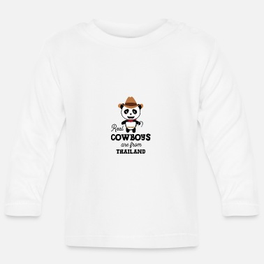 Asian Real Cowboys are from Thailand Gift - Baby Longsleeve Shirt