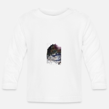 Edinburgh Castle's Grassmarket  by Louis Weirter - Baby Longsleeve Shirt