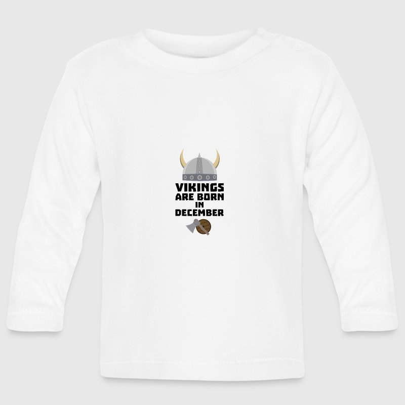 Vikings are born in December Szun4 - Baby Long Sleeve T-Shirt