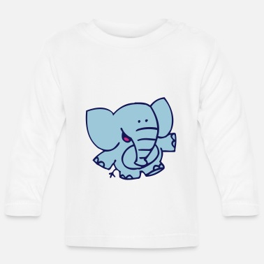 Little Elephant by Cheerful Madness!! - Baby Longsleeve Shirt