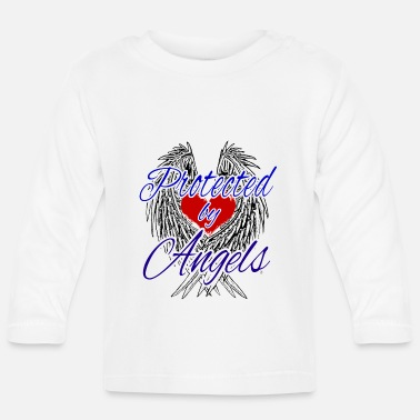 Protected by angels - Baby Longsleeve Shirt