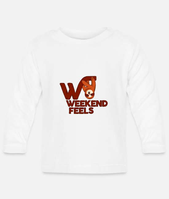 Lazy Baby Long-Sleeved Shirts - lazy weekend - Baby Longsleeve Shirt white
