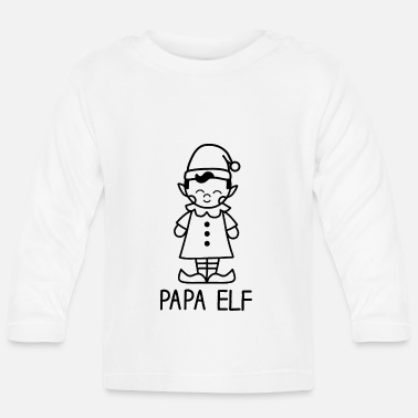 Family Crest Papa Elf - Fantasy and Christmas - Baby Longsleeve Shirt