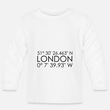 Uk London koordinater - Langærmet babyshirt