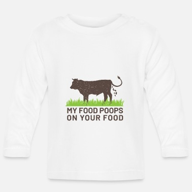 My Food Poops on your Food - Långärmad baby T-shirt