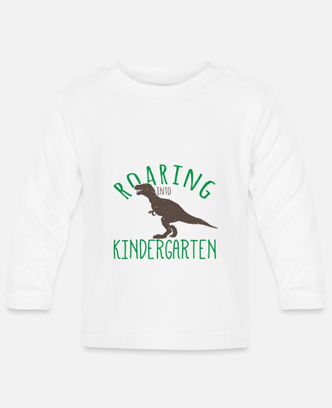 Nature Baby Long-Sleeved Shirts - Roaring in kindergarten - Baby Longsleeve Shirt white