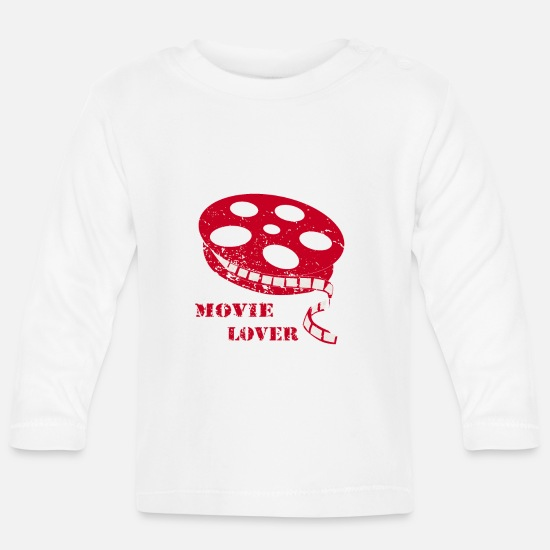 Gift Idea Baby Clothes - Movie Lover Cinema Movies - Baby Longsleeve Shirt white