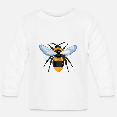 Closeup Bee from hive in closeup for beekeeper - Baby Longsleeve Shirt